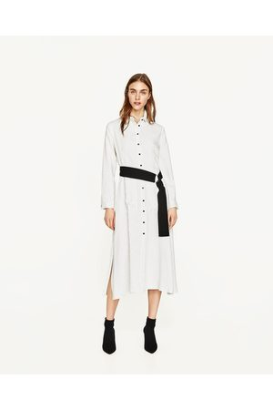 Dames Geprinte jurken - Zara GESTREEPTE TUNIEK MET CEINTUUR