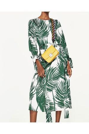 Dames Geprinte jurken - Zara MIDI-JURK MET PRINT