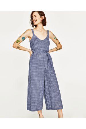 Dames Jumpsuits - Zara CROPPED JUMPSUIT MET SCHOUDERBANDEN