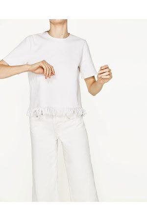 Dames Tops & Shirts - Zara TOP MET FRANJES AAN DE ZOOM