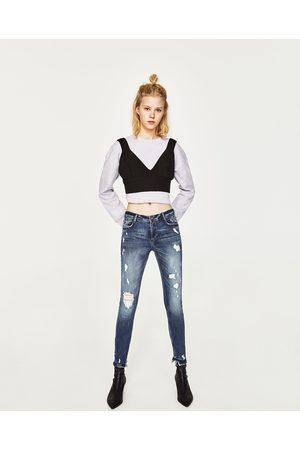 Dames Skinny - Zara JEANS IN SKINNY FIT MET EXTRA STRETCH EN LAGE TAILLE