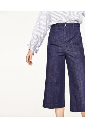 Dames Culottes - Zara DENIM CULOTTE-BROEK LIMITED EDITION