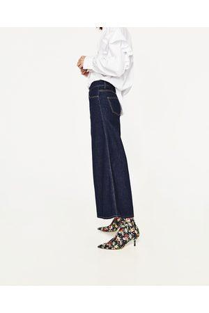 Dames Culottes - Zara THE SUPER WIDE LEG CULOTTE-JEANS