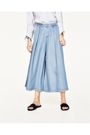 Dames Culottes - Zara CULOTTE-JEANS 'THE WIDE LEG