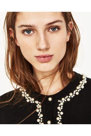 Dames Vesten - Zara VEST MET PARELTJES - In meer kleuren beschikbaar