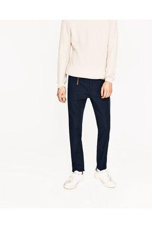 Heren Slim & Skinny broeken - Zara GESTRUCTUREERDE BROEK IN SLIM FIT - In meer kleuren beschikbaar