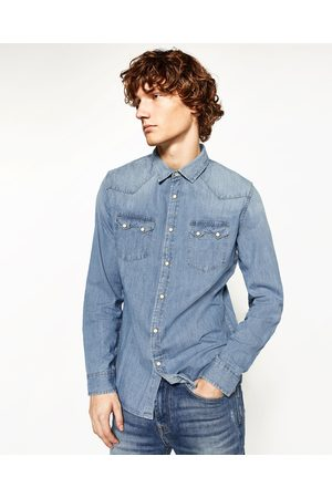 Heren Denim - Zara DENIM OVERHEMD - In meer kleuren beschikbaar