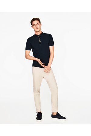 Heren Poloshirts - Zara POLO MET KUNSTSUÈDE KRAAG - In meer kleuren beschikbaar