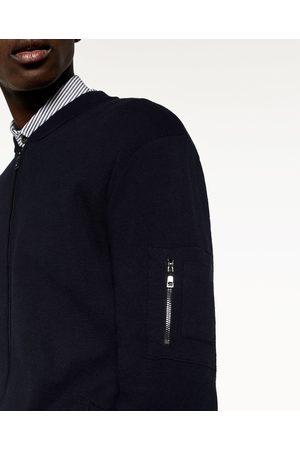 Heren Bomberjacks - Zara TRICOT BOMBERJACK - In meer kleuren beschikbaar