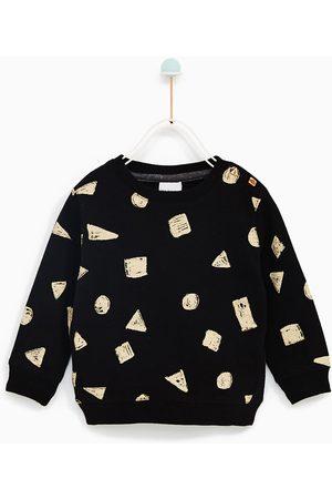 Jongens Sweaters - Zara SWEATSHIRT MET GEOMETRISCHE ELEMENTEN