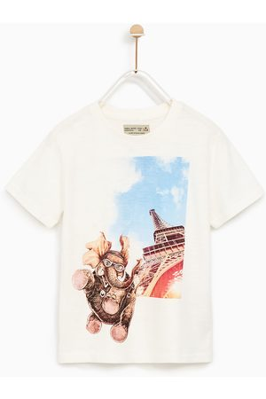 Jongens Shirts - Zara T-SHIRT MET OLIFANT EN EIFFELTOREN