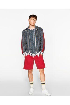 Heren Sweaters - Zara SWEATSHIRT MET RITS EN RETROPRINT