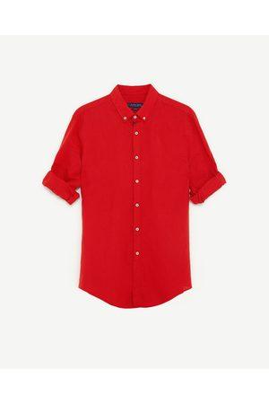 Heren Overhemden - Zara OVERHEMD VAN LINNEN EN KATOEN - In meer kleuren beschikbaar