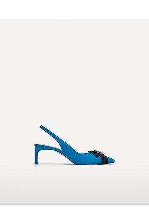 Zara LEREN SANDALEN MET GLAZEN KRALEN - In meer kleuren beschikbaar