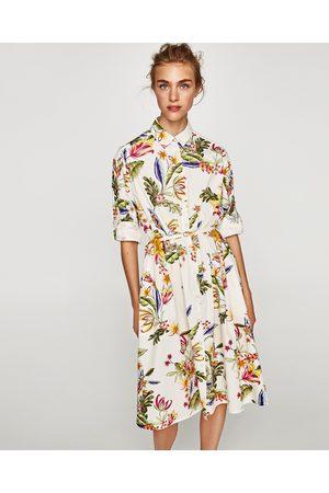 Zara TUNIEK MET BLOEMENPRINT - In meer kleuren beschikbaar