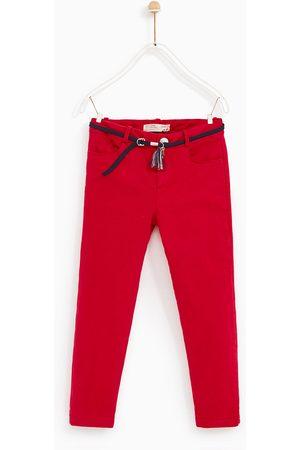 Zara SATIJNEN BROEK MET CEINTUUR - In meer kleuren beschikbaar