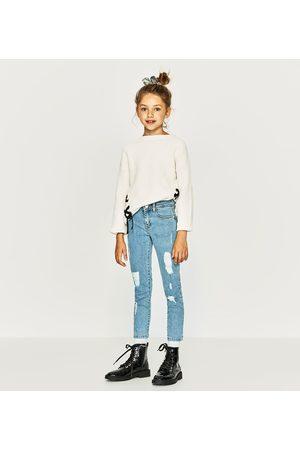 Meisjes Slim & Skinny broeken - Zara DENIM SKINNY BROEK MET SCHEUREN