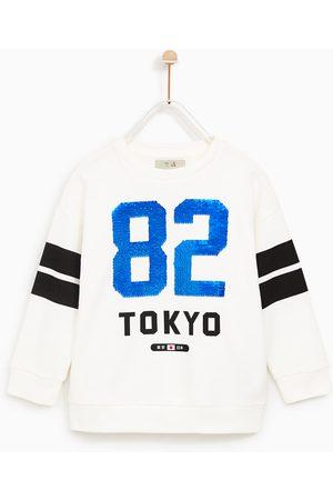 Zara SWEATSHIRT '82 TOKYO' MET DUBBELE LOVERTJES