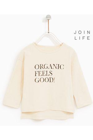 Zara T-SHIRT 'ORGANIC FEELS GOOD
