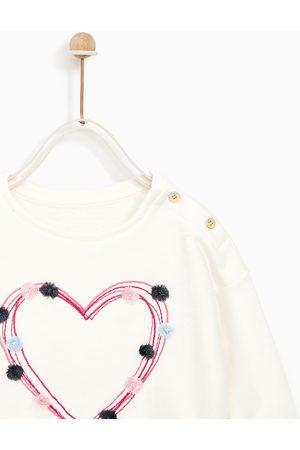 Zara SWEATSHIRT MET APPLIQUÉS EN BORDUURSELS - In meer kleuren beschikbaar