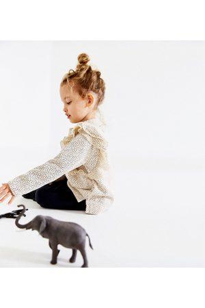 Zara GESTIPT SWEATSHIRT MET VOLANTS