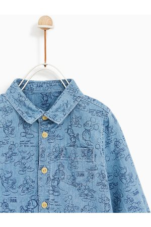 Zara DENIM OVERHEMD 'MICKEY MOUSE