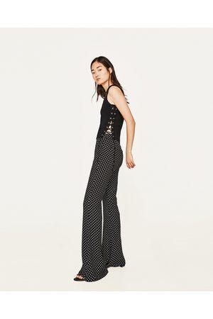 Zara TRICOT TOP MET VETERS OPZIJ - In meer kleuren beschikbaar