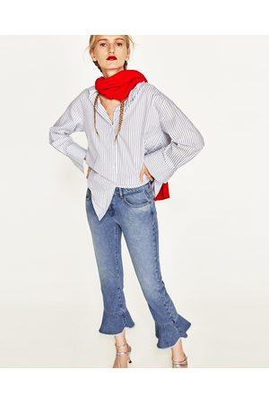 Dames Jeans - Zara JEANS MET HALFHOGE TAILLE EN VOLANTS