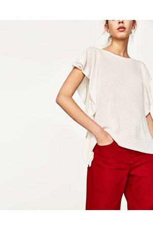 Dames Truien - Zara TRUI MET VOLANTS OPZIJ - In meer kleuren beschikbaar