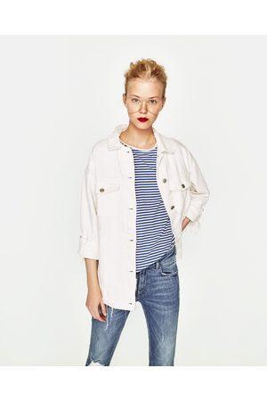 Dames Jeans - Zara JEANS MET LICHT UITLOPENDE PIJPEN EN LAGE TAILLE