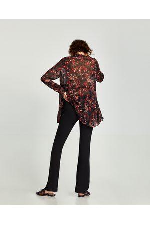 Zara SOEPELVALLENDE BROEK MET WIJDE PIJPEN - In meer kleuren beschikbaar
