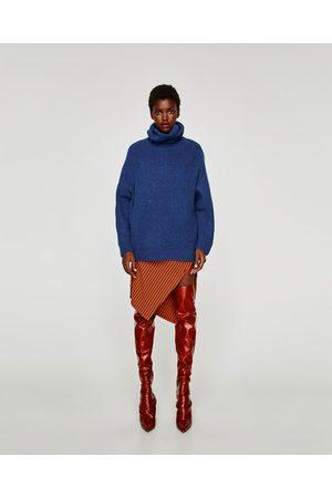 Zara OVERSIZED TRUI MET OMSLAGKRAAG - In meer kleuren beschikbaar