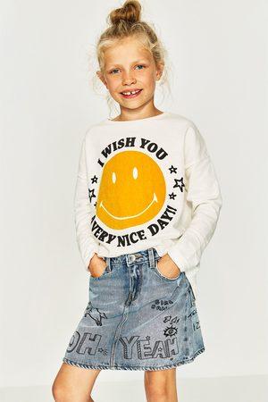 Zara T-SHIRT MET SMILEY EN TEXTUUR