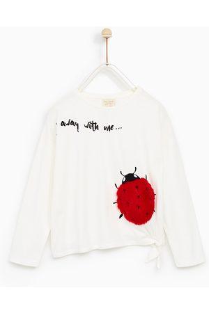 Zara T-SHIRT MET APPLICATIES VAN NEPBONT - In meer kleuren beschikbaar
