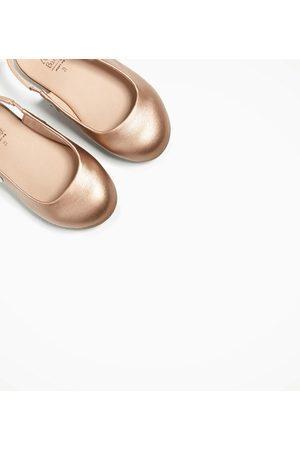 Zara METALLIC BALLERINA'S IN SLINGBACKSTIJL