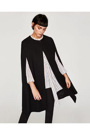 Zara LANGE WOLLEN CAPE - In meer kleuren beschikbaar