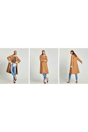 Zara langer mantel beige