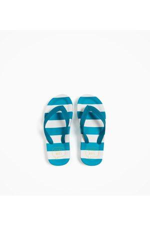 Zara GESTREEPTE STRANDSLIPPERS - In meer kleuren beschikbaar