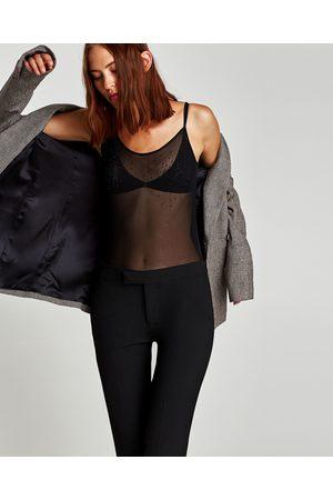 Zara BODY MET GLANZENDE APPLICATIES - In meer kleuren beschikbaar