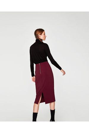 Zara KOKERROK MET RITS - In meer kleuren beschikbaar