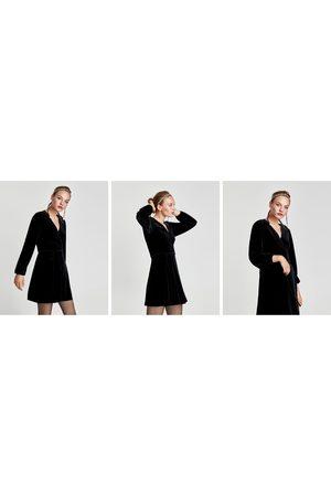 Zara FLUWELEN MINIJURK IN PAREOSTIJL - In meer kleuren beschikbaar