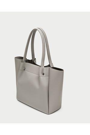 Zara SHOPPER MET METALEN APPLICATIE - In meer kleuren beschikbaar