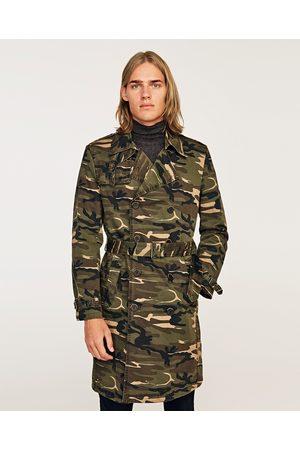 Zara CAMOUFLAGE TRENCH COAT