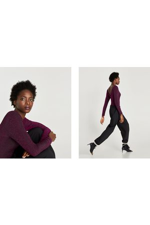Zara TRICOT BODY MET GLANS - In meer kleuren beschikbaar