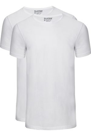 Slater T-shirts 2-pack Basic Fit smalle ronde hals