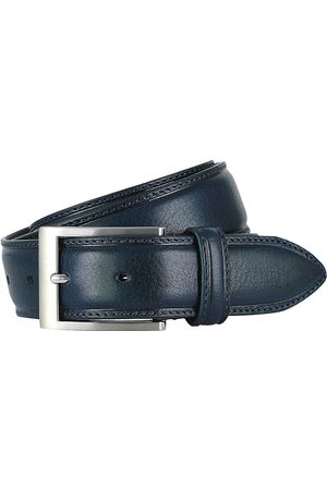 Riem dark blue full grain leer