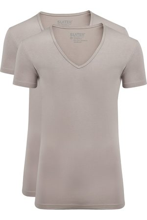 Heren Shirts - Slater T-shirt beige invisible Stretch 2-pack