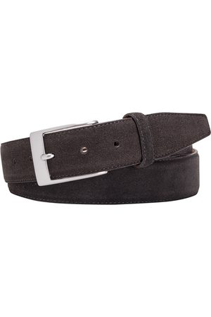 Herenriemen - Profuomo Riem solid brown suède stitch