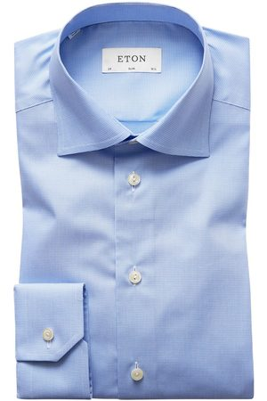 Heren Zakelijk - Eton Dress shirt lichtblauw Slim cut-away