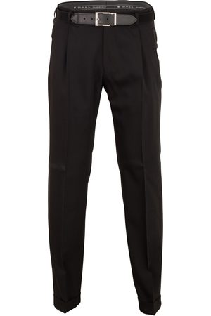 Pantalon Paris wol bandplooi stretch
